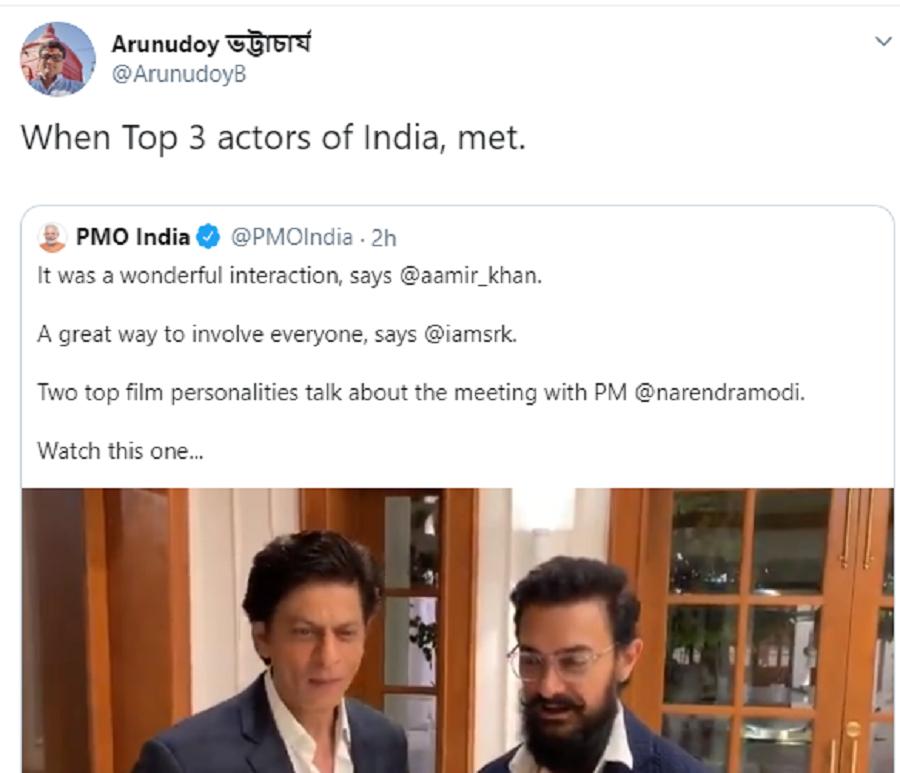 Shah Rukh Khan and Aamir Khan Click a Selfie With PM Modi, Break The Internet