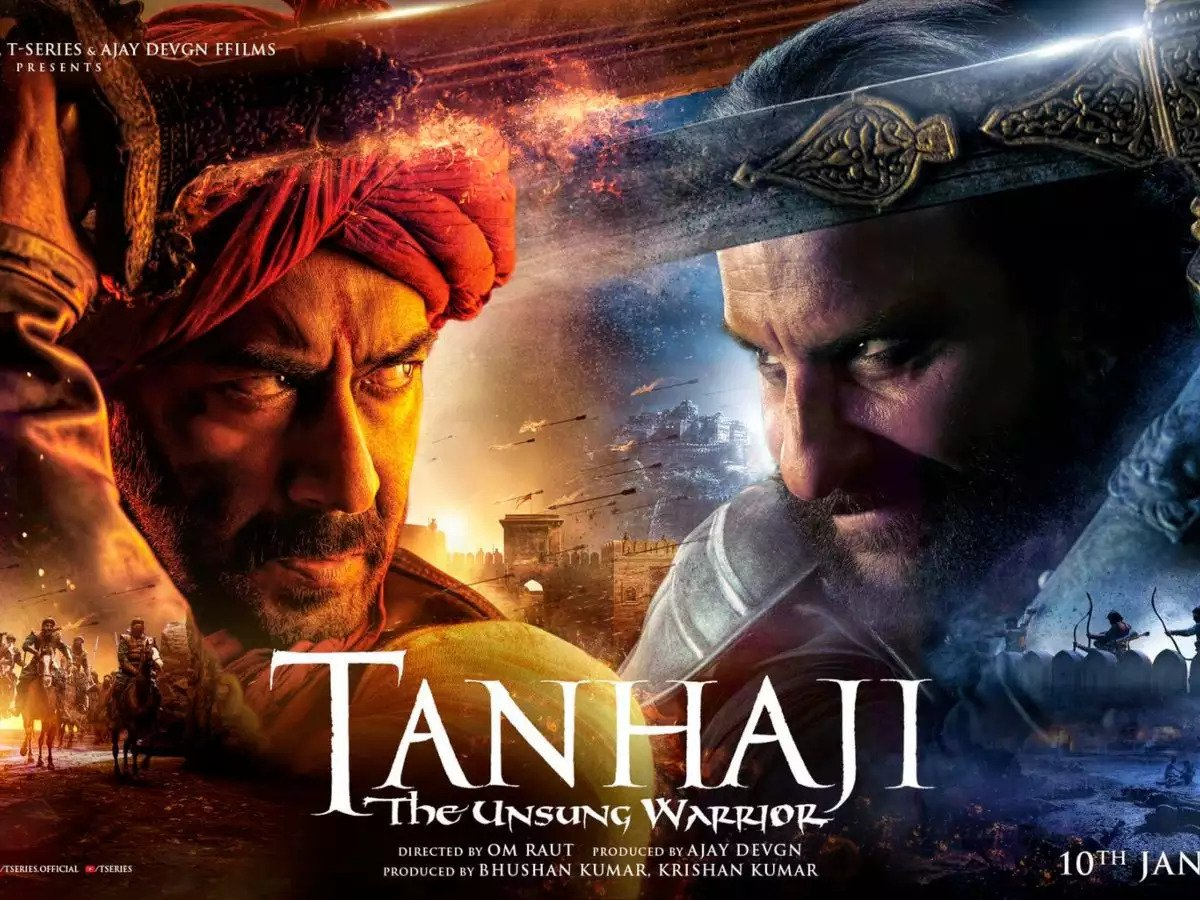 Ajay Devgn and Saif Ali Khan in 'Tanhaji'