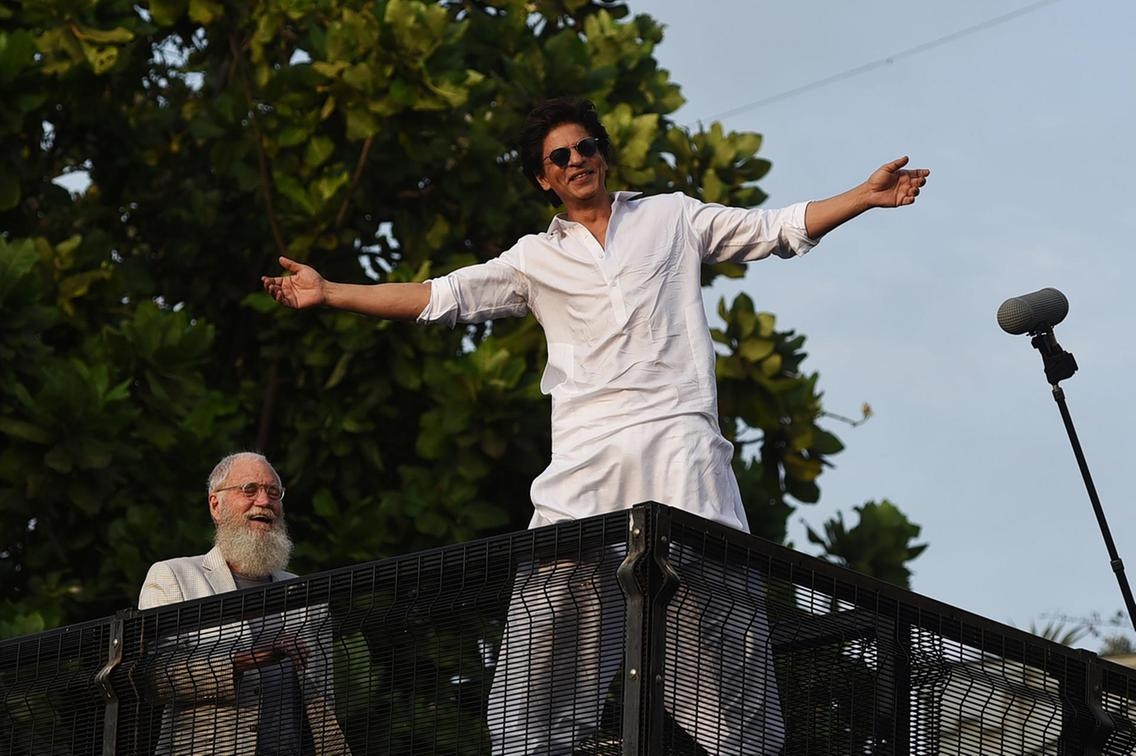David Letterman and Shah Rukh Khan