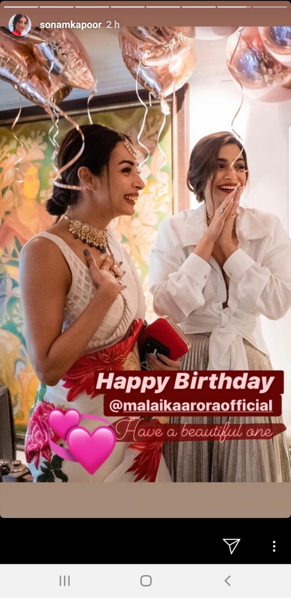 Sonam Kapoor Wishes Malaika Arora a Happy Birthday