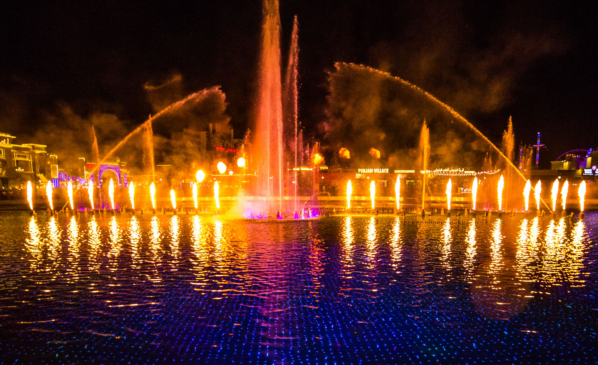 Fire Fountain Show at Global Village