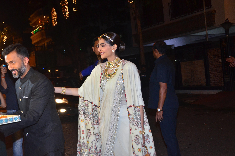 Sonam Kapoor and Anand Ahuja at Diwali