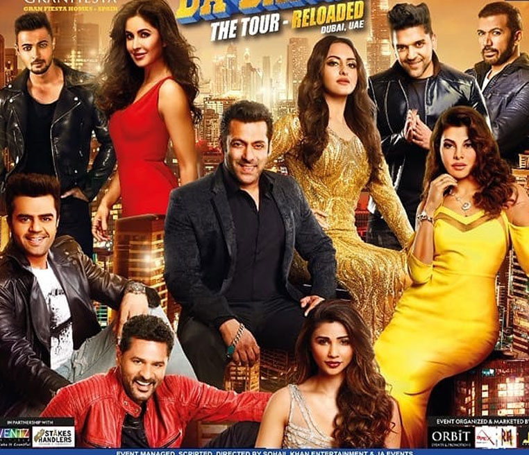 Da-bangg The Tour Reloaded: Salman Khan, Katrina Kaif, Jacqueline Fernandez and Others Return to Dubai