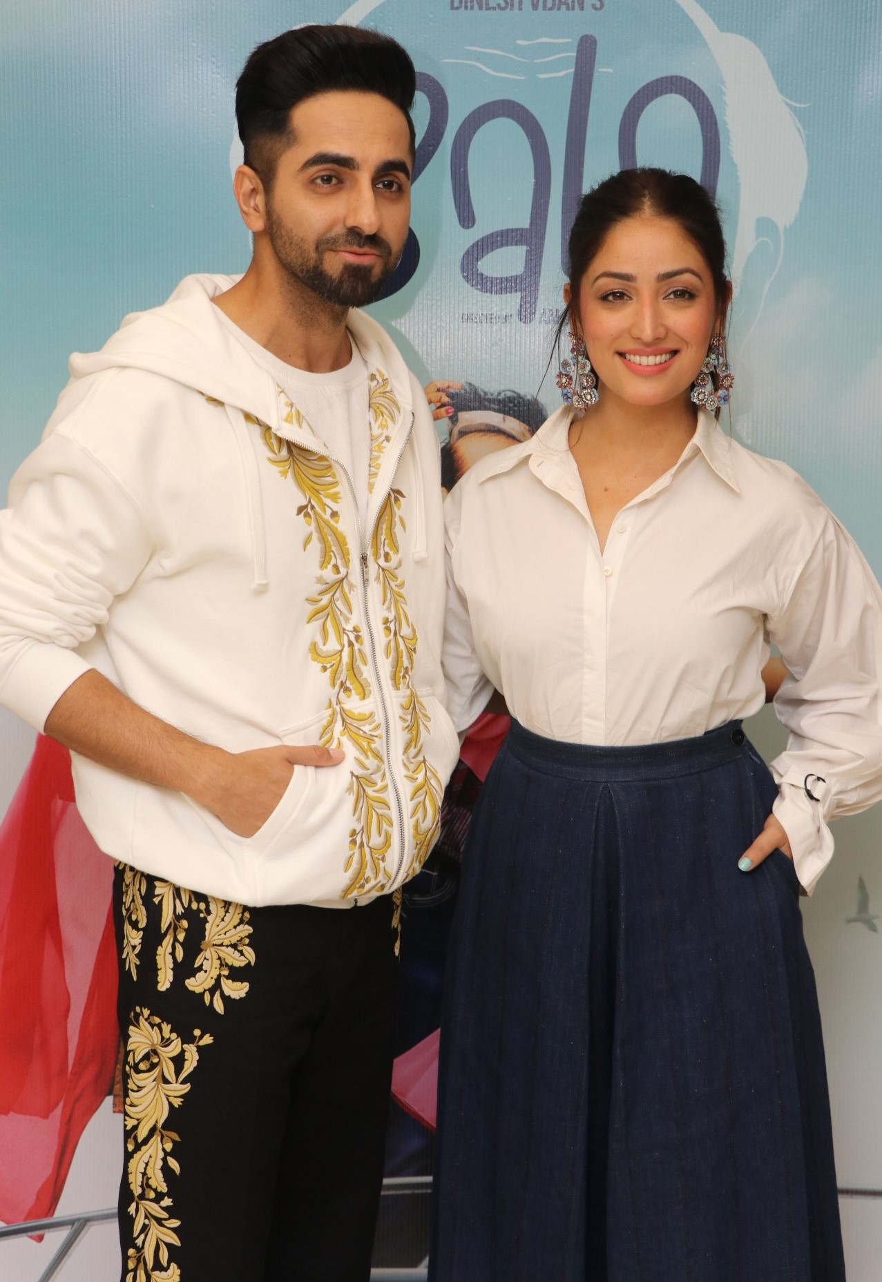Ayushmann Khurrana and Yami Gautam promoting Bala