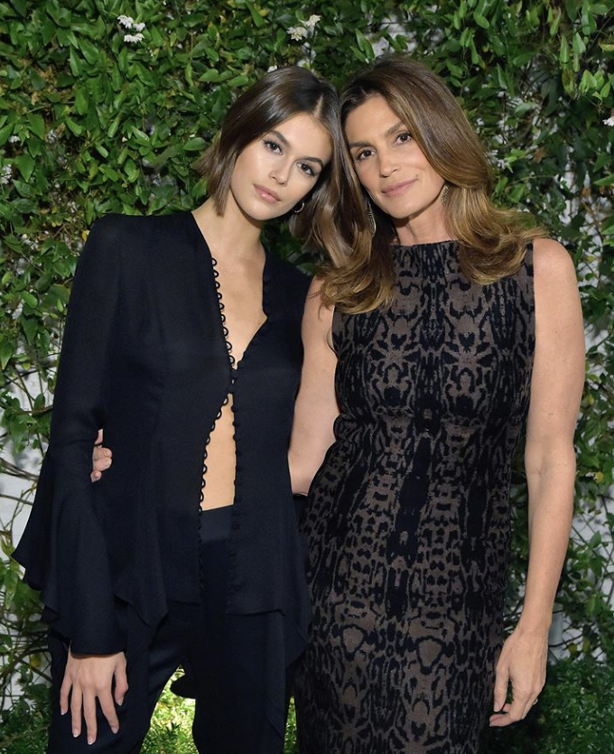 Cindy Crawford Enjoys A Luncheon With Her Mother And Daughter Kaia Gerber