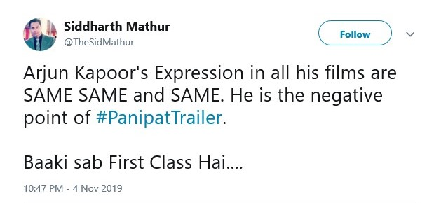 Arjun Kapoor-Sanjay Dutt Starrer Panipat: Check Out the Audience Reactions to the Official Trailer