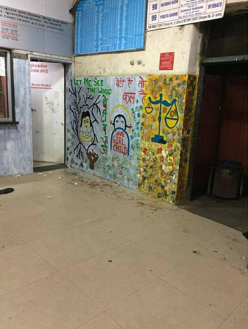 The Ambani Bahu Shloka Mehta Paints the Walls of Mumbai Train Station