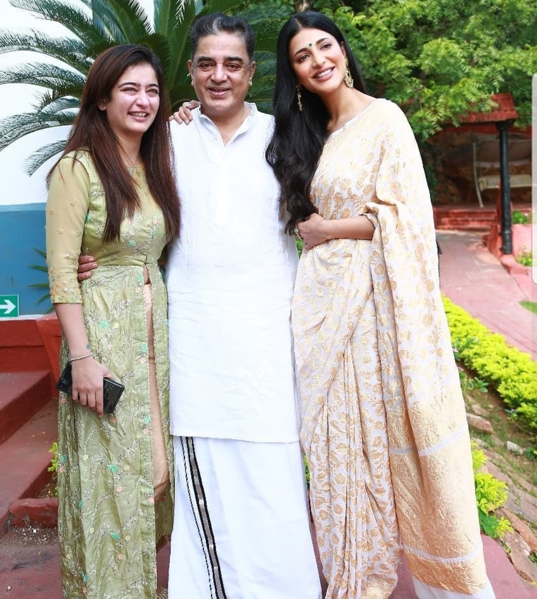 Kamal Haasan Celebrates 65th Birthday With Family In Tamil Nadu