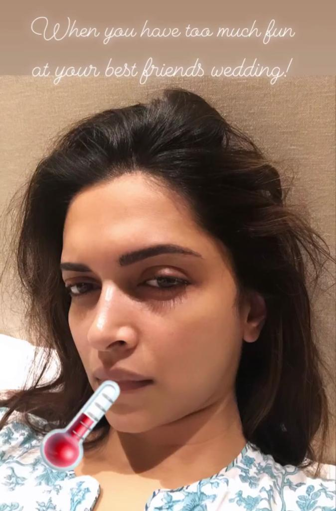 Deepika Padukone Falls Sick Ahead Of First Wedding Anniversary