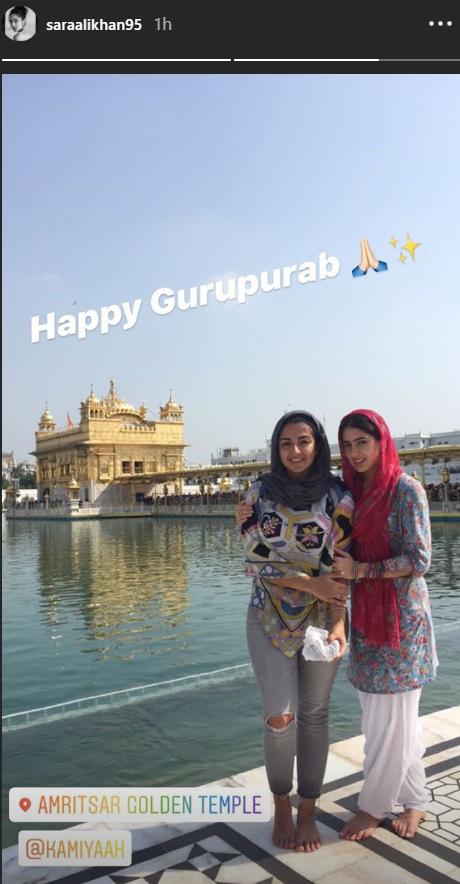 Sara Ali Khan at the Amritsar Golden Temple