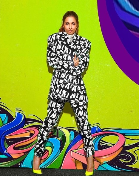 Malaika Arora Exudes Boss Lady Vibes In Printed Power Suit