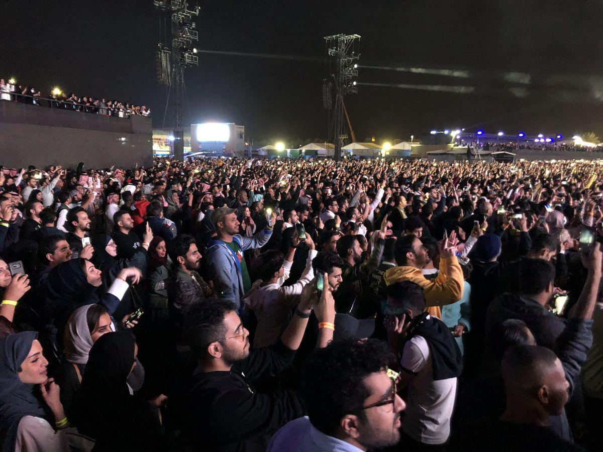 Concert in Saudi Arabia