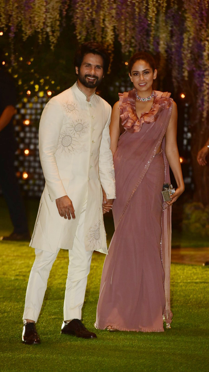 Mira Rajput Slaying in a Pastel Ruffle Sari Twice is a Sight You Cannot Miss