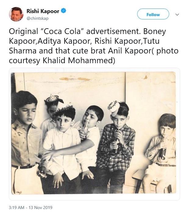 Rishi Kapoor Shares Throwback Picture of Father Raj Kapoor and Actress Nargis, See Below