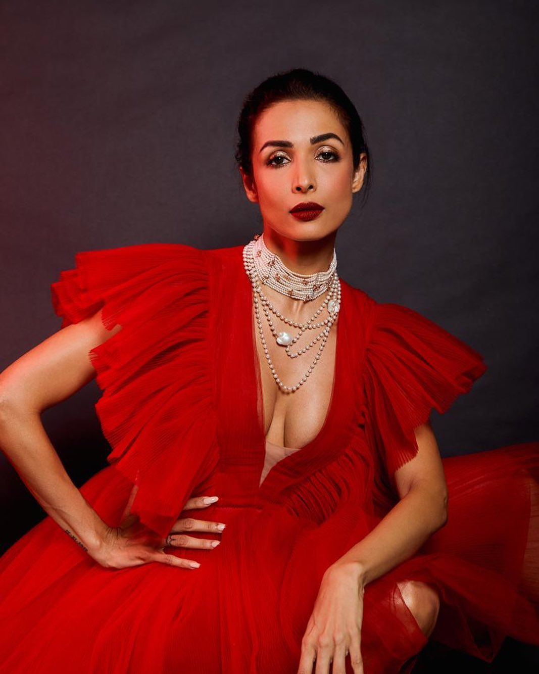 ​Malaika Arora in red
