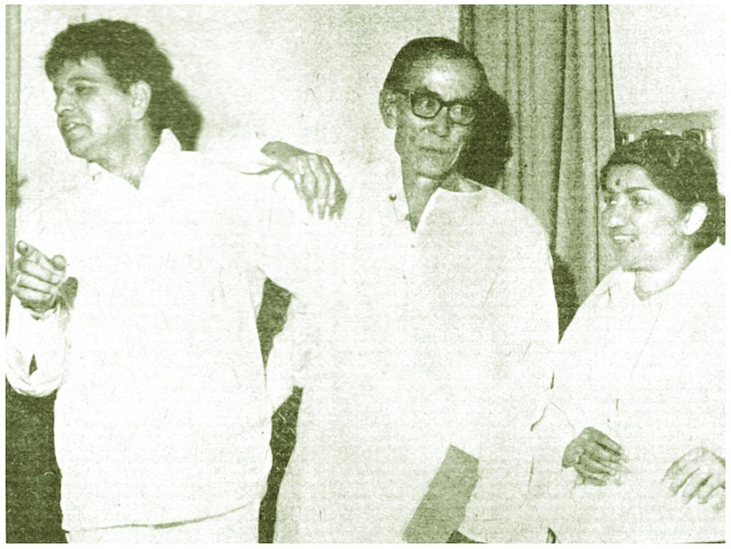 Lata Mangeshkar, Dilip Kumar and SD Burman
