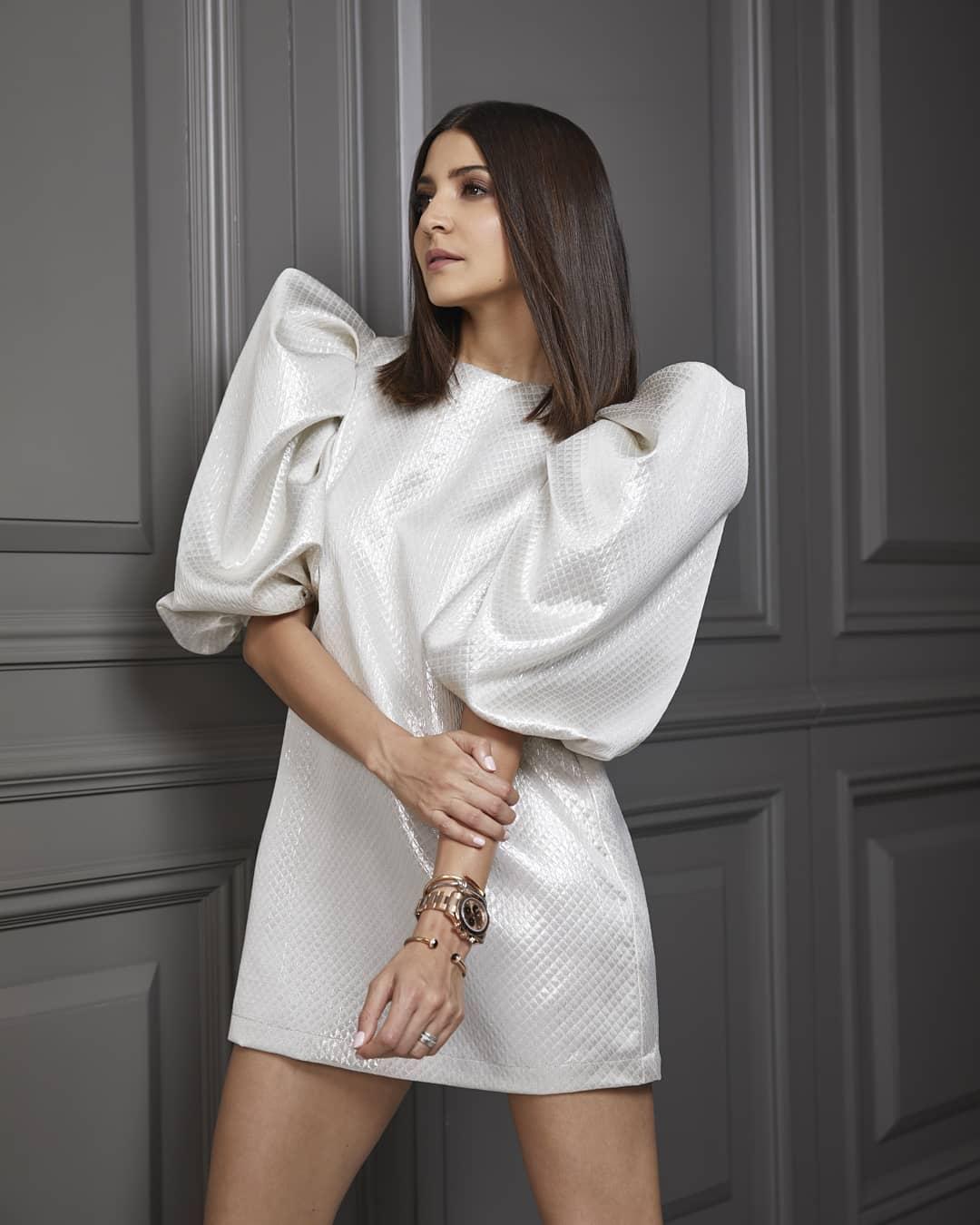 Anushka Sharma Looks Ravishing in White Statement Dress
