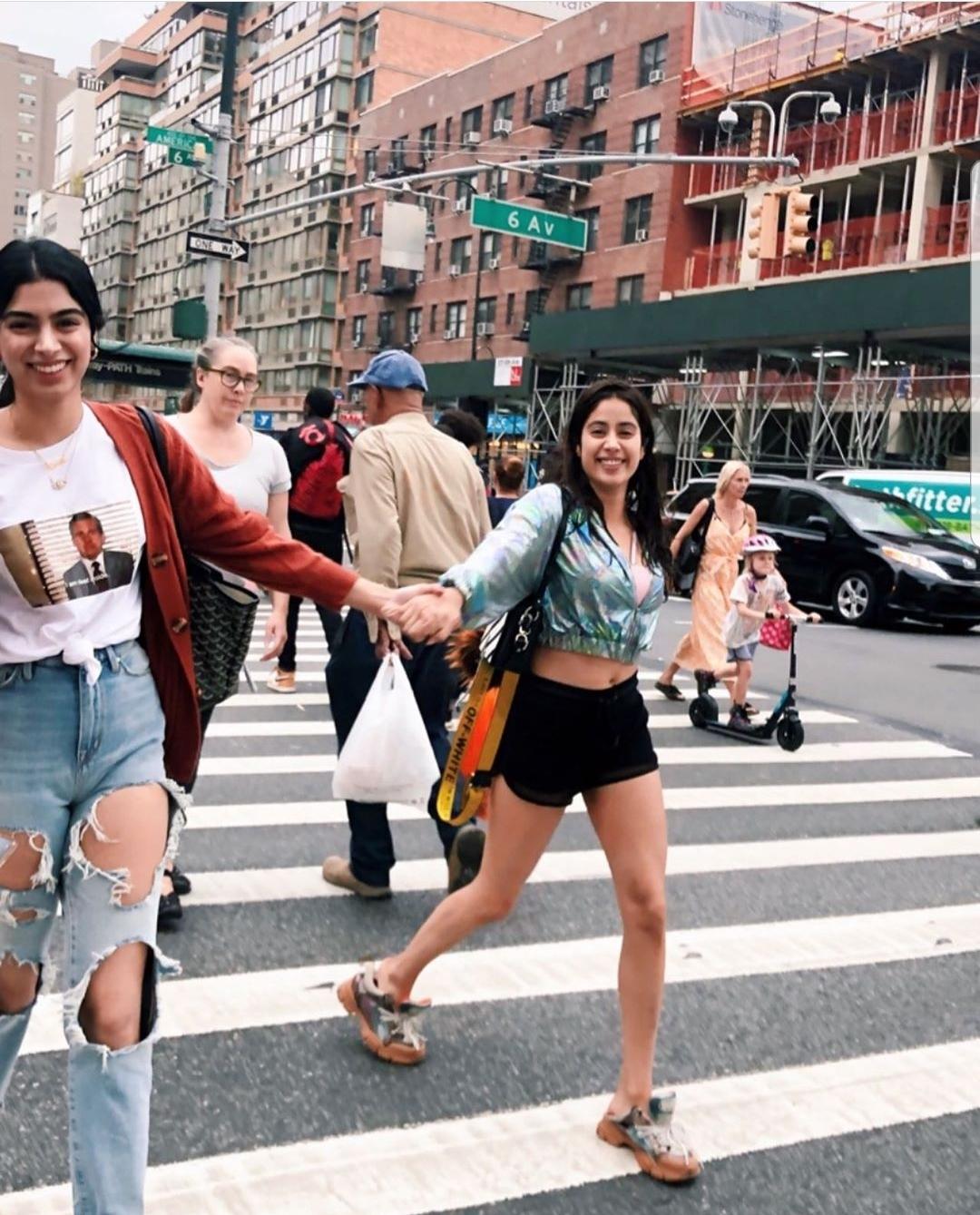 Khushi Kapoor and Janhvi Kapoor in New York City