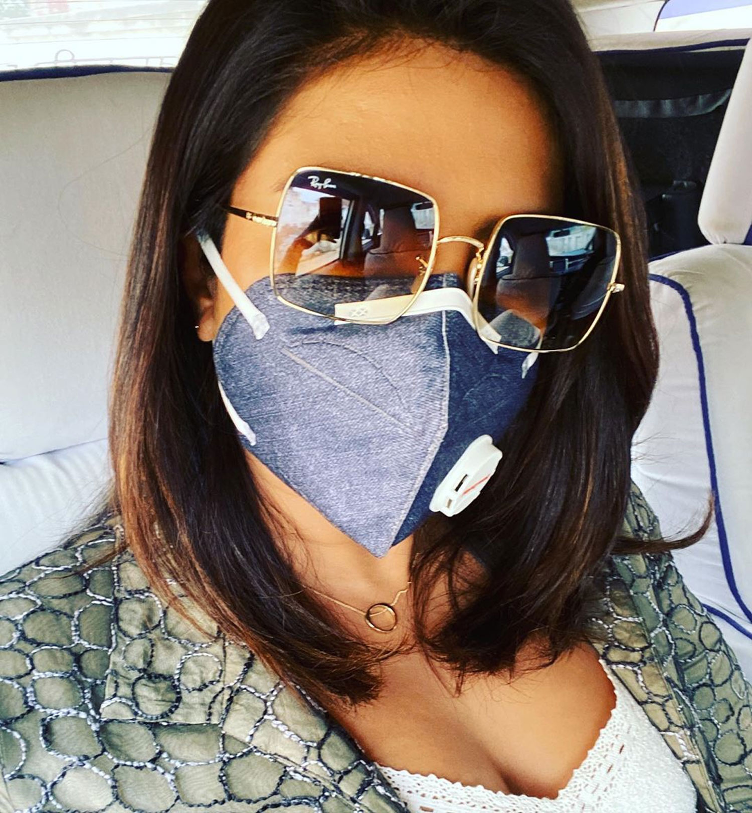 Priyanka Chopra wears a mask to protect herself from Delhi's hazardous air