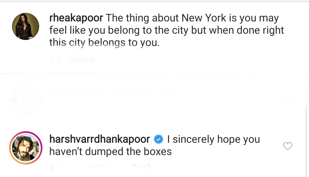 Harshvardhan Kapoor's cheeky comment on Rhea Kapoor's picture
