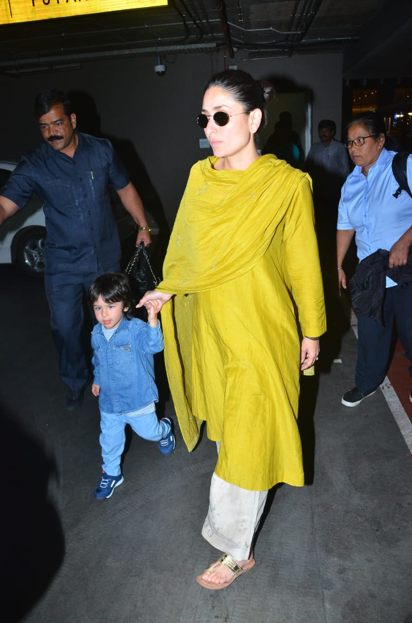 Kareena Kapoor Khan and Taimur Ali Khan at the airport 2