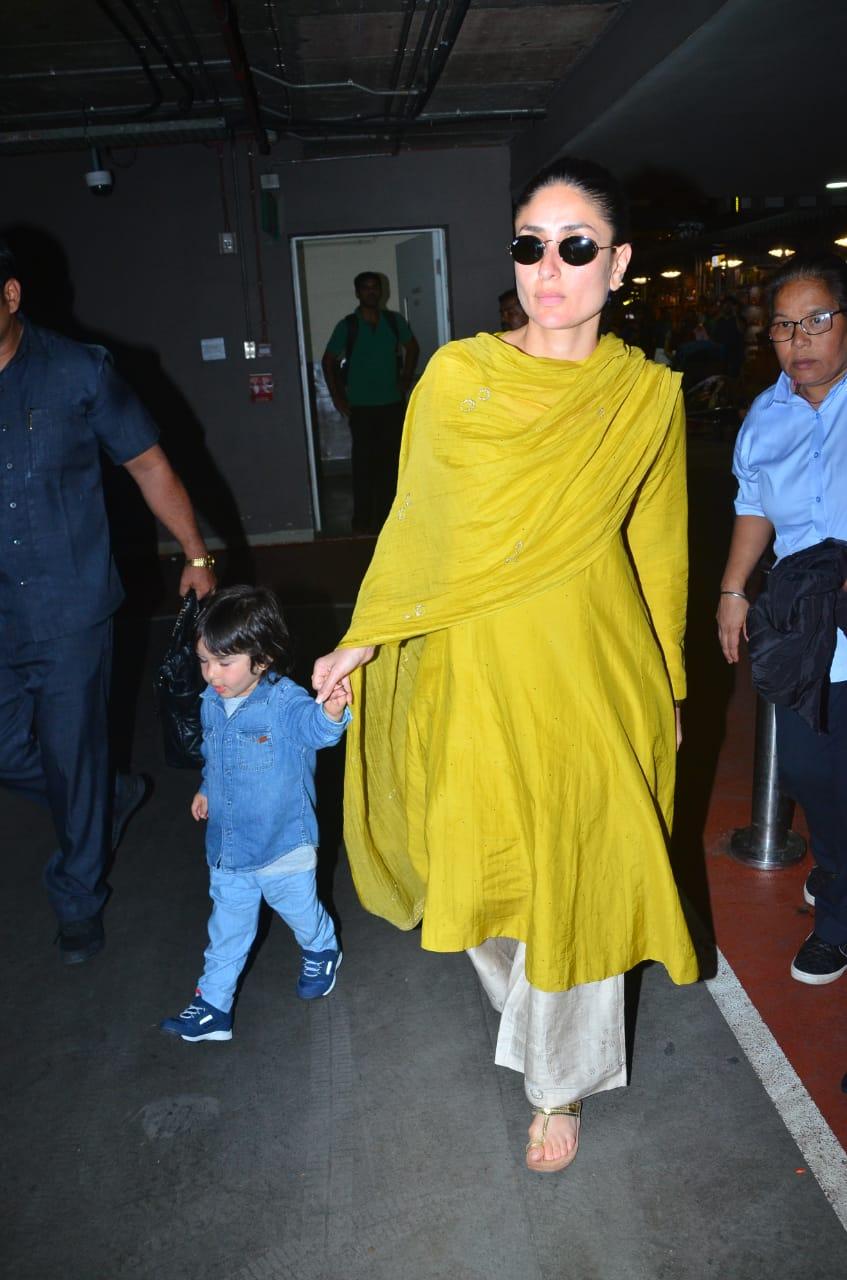 Kareena Kapoor Khan and Taimur Ali Khan at the airport 1
