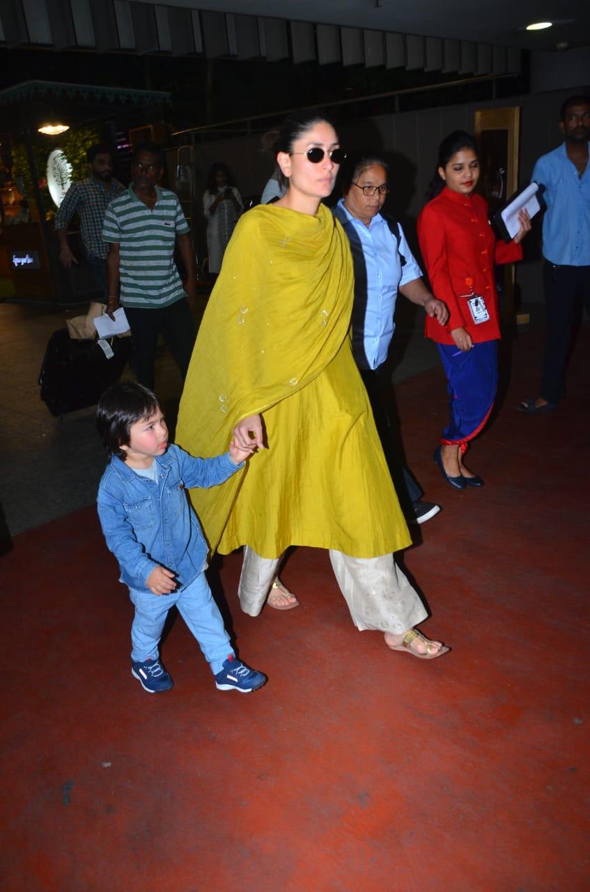 Kareena Kapoor Khan and Taimur Ali Khan at the airport 3