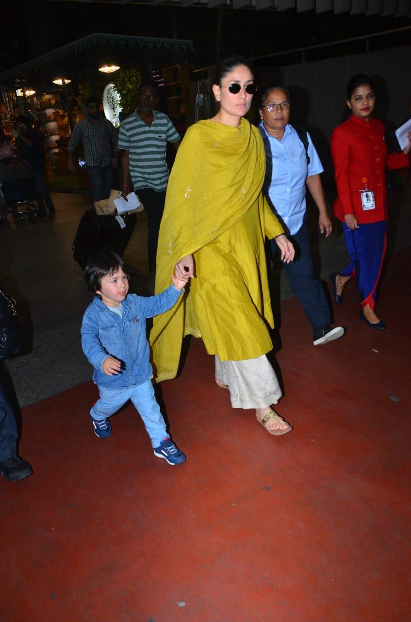 Kareena Kapoor Khan and Taimur Ali Khan at the airport 4