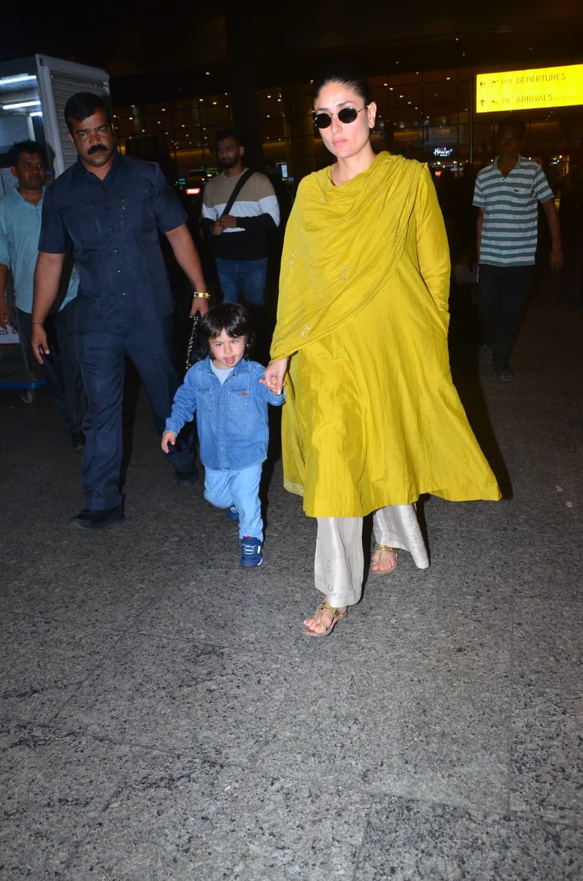 Kareena Kapoor Khan and Taimur Ali Khan at the airport 6