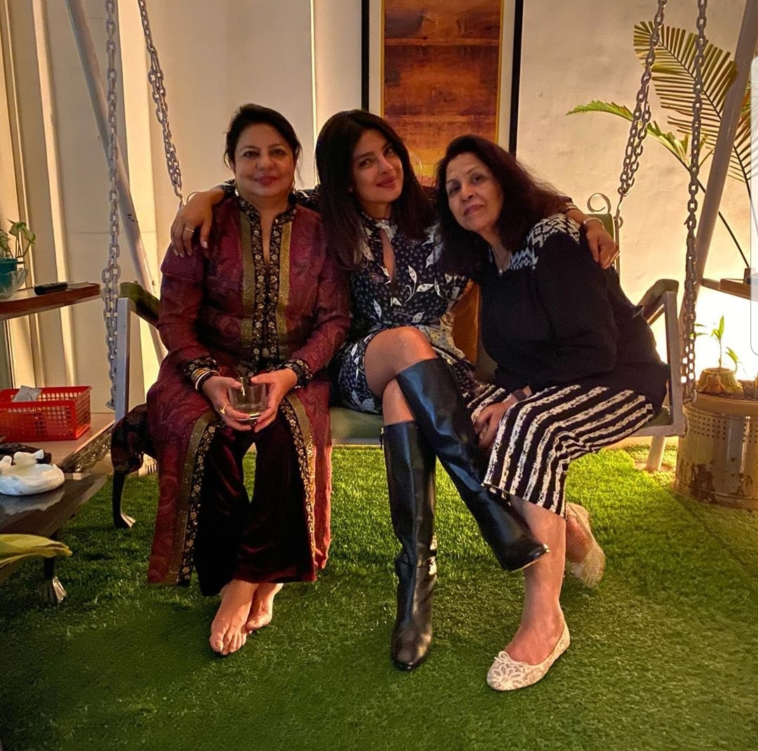 Priyanka Chopra with her a friend and mum, Madhu Chopra