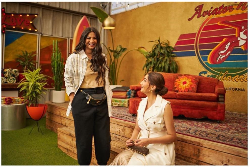 Rhea Kapoor and Sonam Kapoor Ahuja in LA
