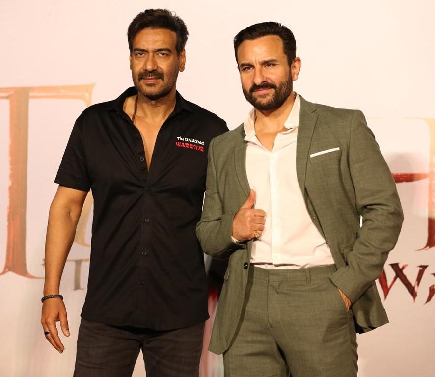 Ajay Devgn and Saif Ali Khan at the trailer launch of 'Tanhaji'