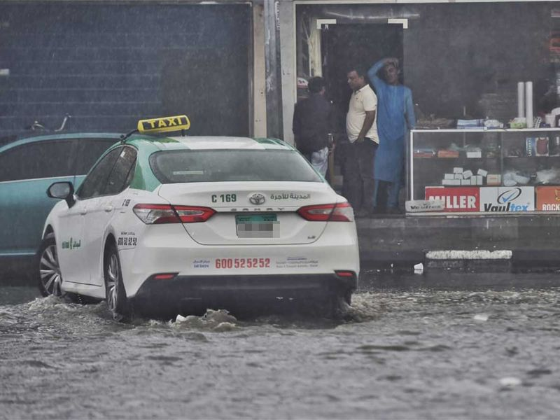 Streets have become vehicle traps following heavy rains in UAE. Credits: Ahmed Ramzan/Gulf News