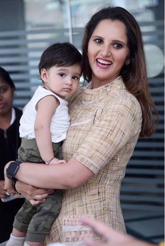 Sania Mirza with son Izhaan Mirza Malik