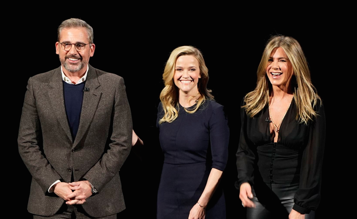Jennifer Aniston, Steve Carrell and Reese Witherspoon star in The Morning Show