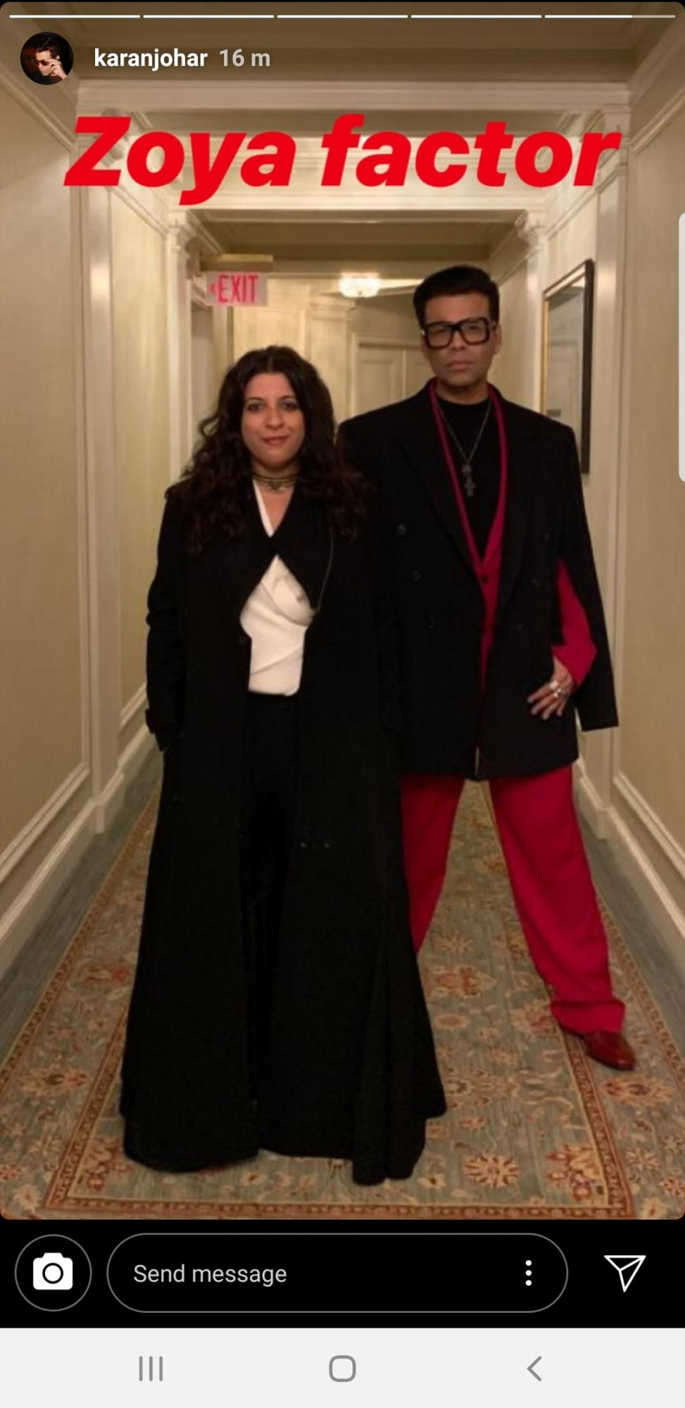 Karan Johar and Zoya Akhtar heading to the International Emmys