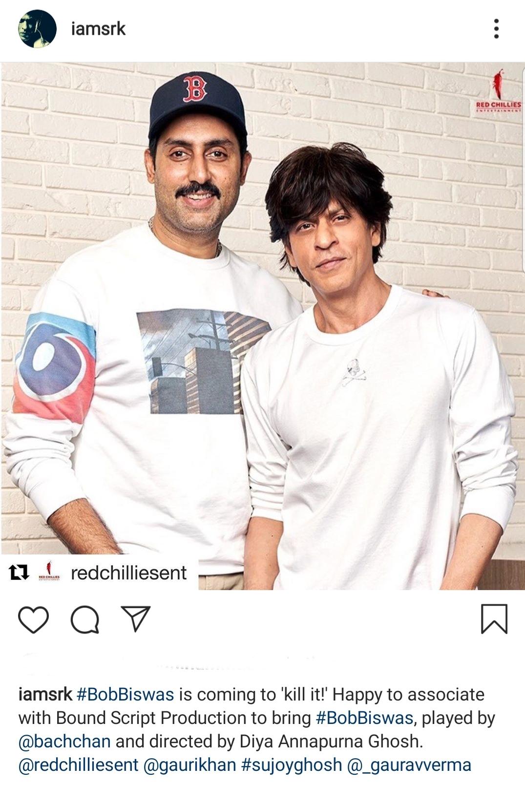 Abhishek Bachchan and Shah Rukh Khan