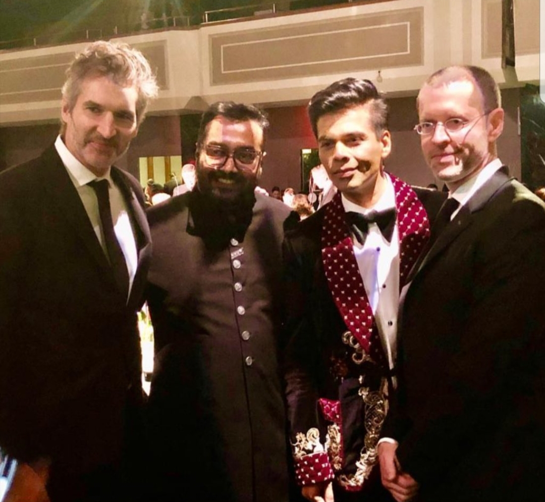 Karan Johar and Anurag Kashyap with Game of Thrones makers DB Weiss and David Benioff