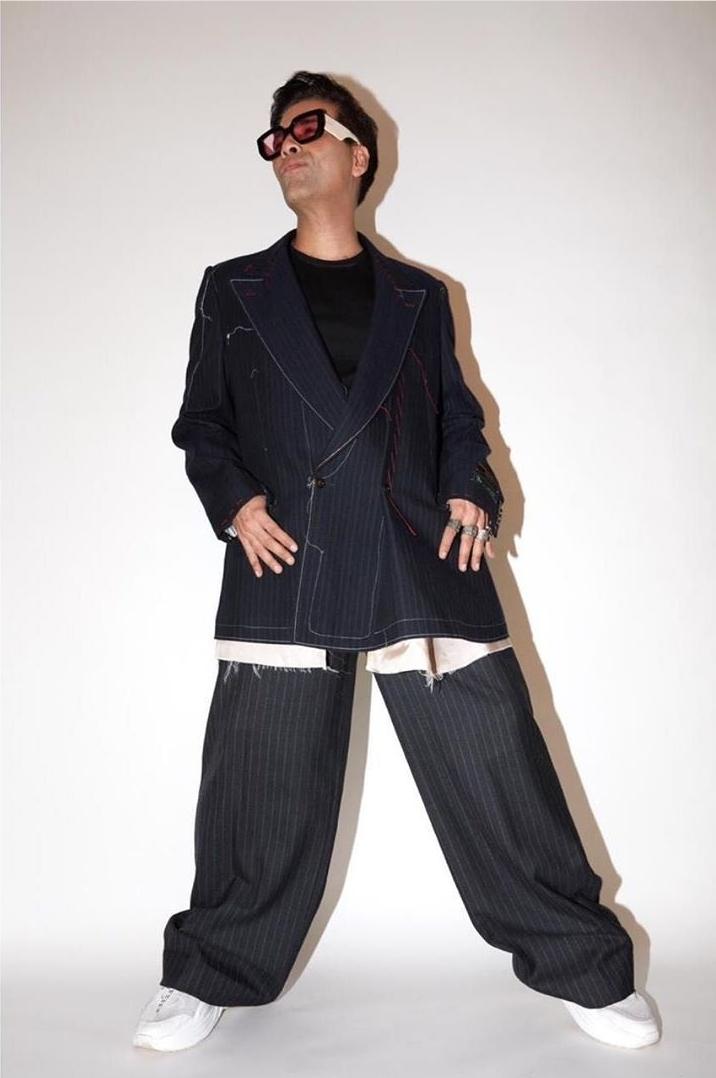 Karan Johar Looks Unapologetically Stylish in Oversized Fashion