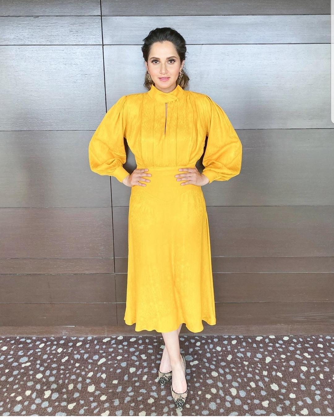 Sania Mirza Shines Like the Sun in a Yellow Ensemble