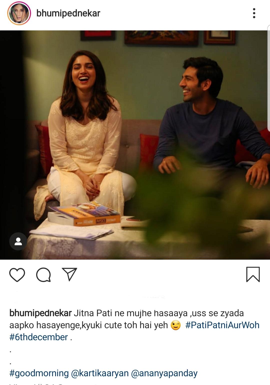 Bhumi Pednekar Endorses Kartik Aaryan's 'Cuteness'