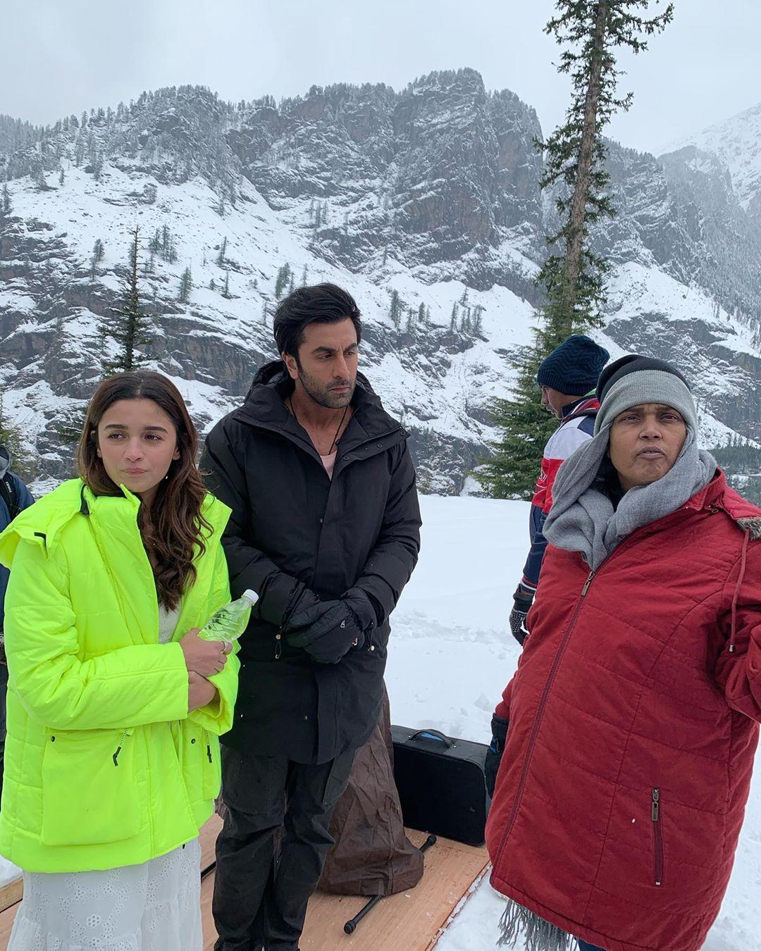 Alia Bhatt and Ranbir Kapoor on the sets of 'Brahmastra'