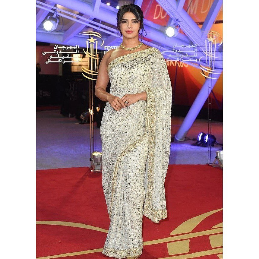 Priyanka Chopra Dazzles in Gold at  the Marrakech International Film Festival