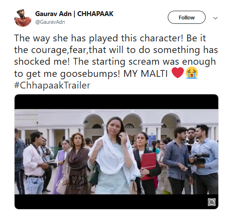 Chhapaak Trailer: Social Media Hails Deepika Padukone for the Upcoming Film being Her Best Performance