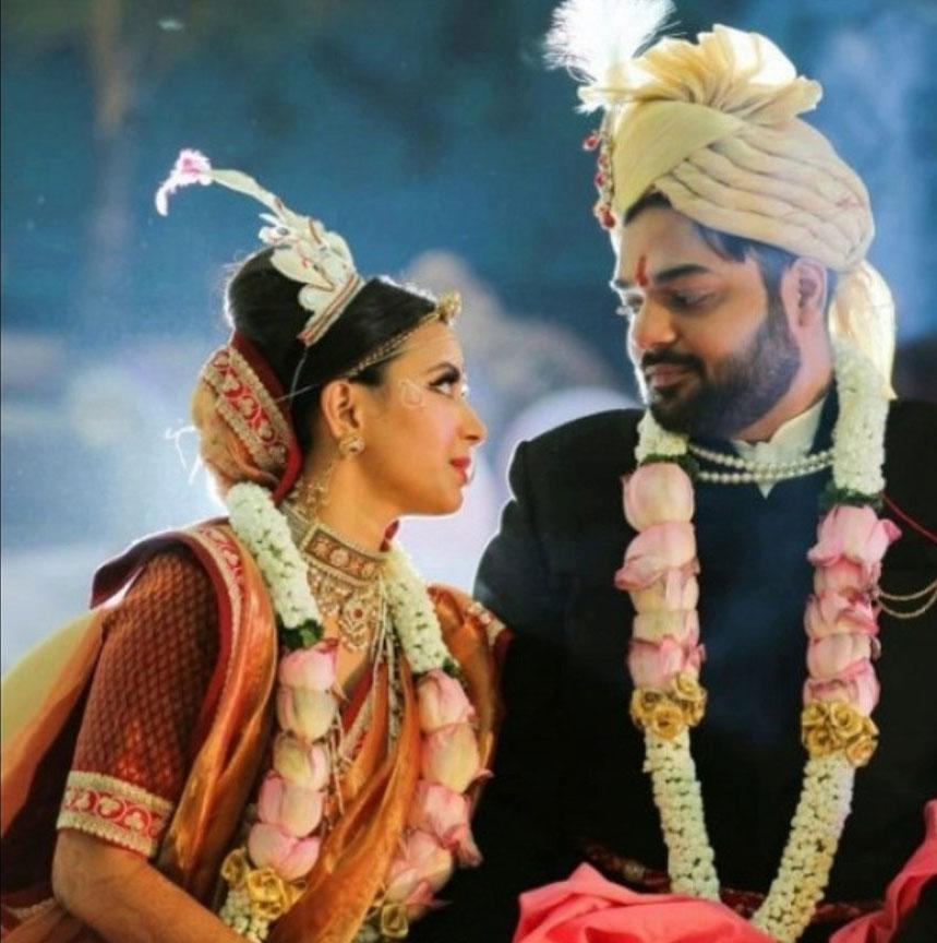 Shweta Prasad with her husband Rohit Mittal
