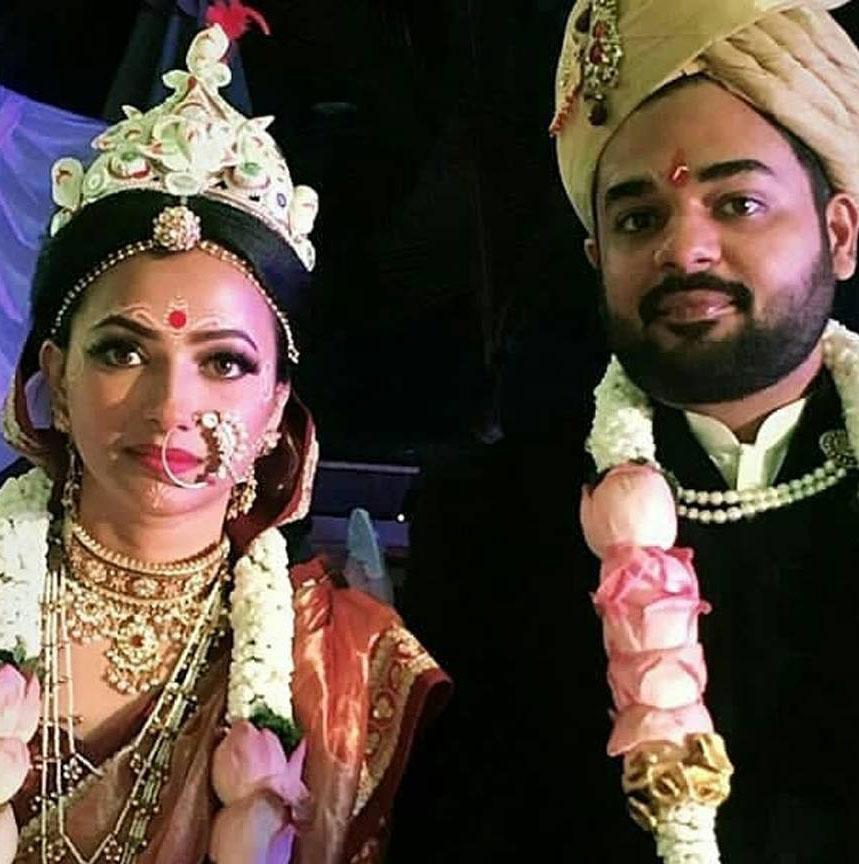 Shweta Prasad with her husband