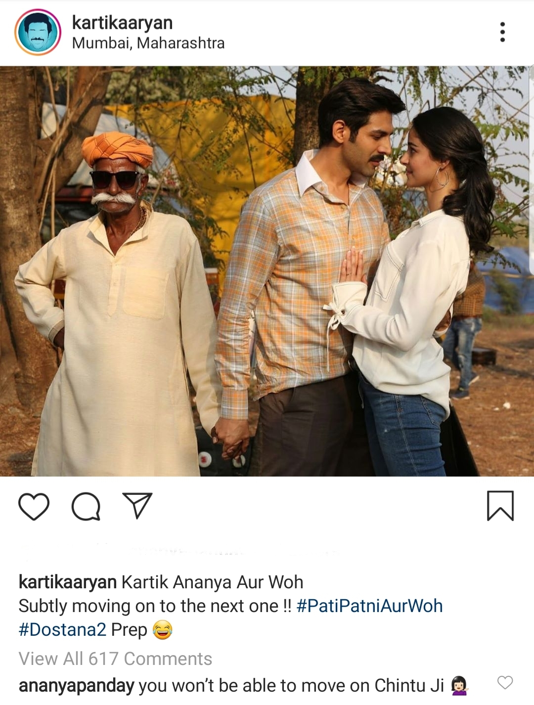 Ananya Panday Thinks Kartik Aaryan Will Not be Able to Move On
