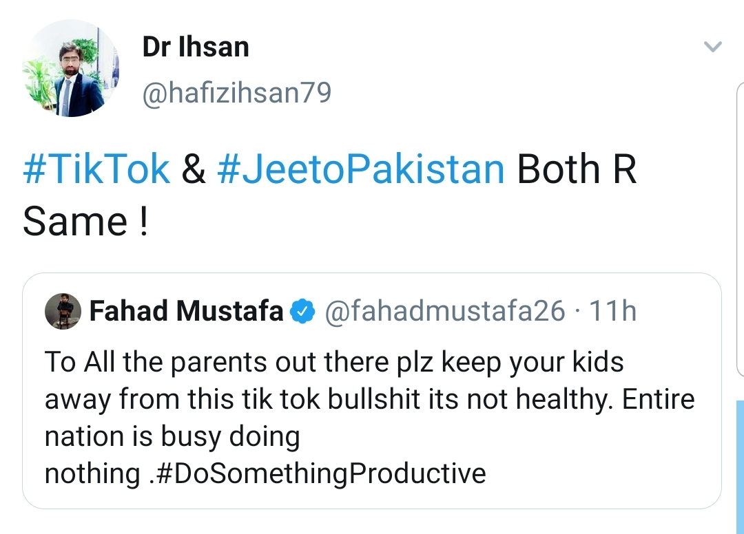 Fahad Mustafa Slams Tik Tok, Gets Trolled For Jeeto Pakistan