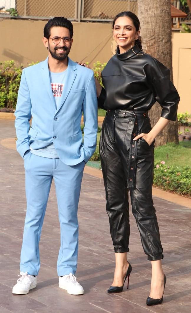 Vikrant Massey and Deepika Padukone during Chhapaak promotions