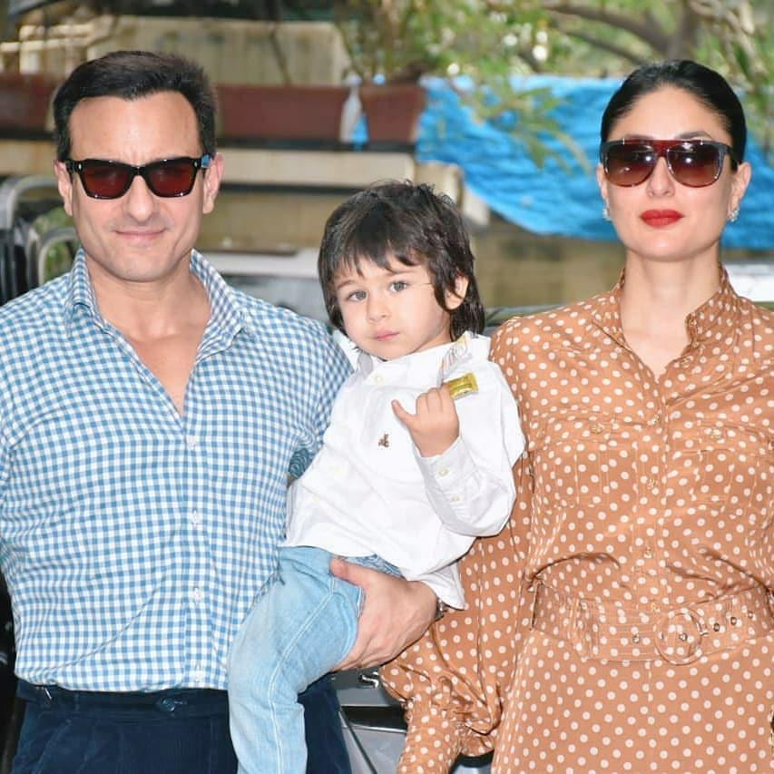 Saif Ali Khan and Kareena Kapoor with Taimur Ali Khan